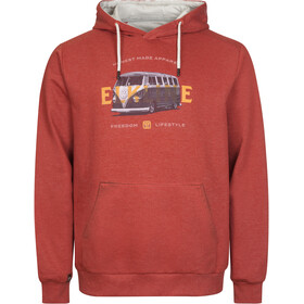 Elkline Bus Stop Sweat Hoodie Men, burnt red
